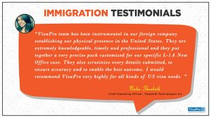 Read Immigration Law Firm Testimonials From Clients Of VisaPro Law Firm